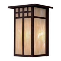 Minka Lavery® Scottsdale™ II 12-Inch 1-Light Pocket Lantern in Textured French Bronze