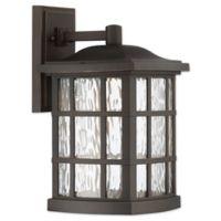 Quoizel Stonington 15.5-Inch 1-Light LED Outdoor Lantern in Palladian Bronze