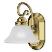 Livex Coronado 1-Light Bath Fixture in Polished Brass