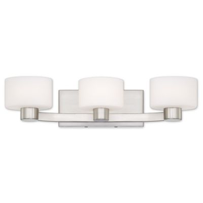 Bathroom Vanity Lights Brushed Nickel buy curved bathroom vanity from bed bath & beyond