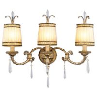 Livex La Balla 3-Light Bath Fixture in Vintage Gold Leaf