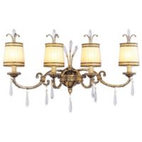 Livex La Balla 4-Light Bath Fixture in Vintage Gold Leaf