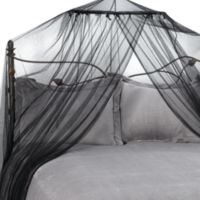 Siam Bed Canopy and Mosquito Net in Black