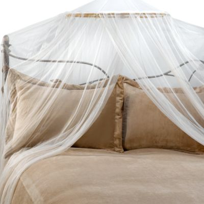 Siam Bed Canopy and Mosquito Net in Ivory & Buy Mosquito Netting Canopy from Bed Bath u0026 Beyond