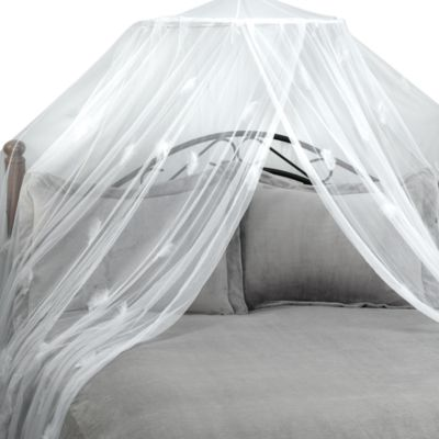 Feather White Bed Canopy and Mosquito Net & Buy Sheer Canopy for Bed from Bed Bath u0026 Beyond