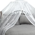 Feather White Bed Canopy and Mosquito Net