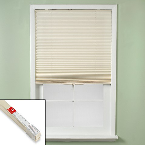 Shade Easy Touch Pleated Window Shade In Ivory Bed Bath amp Beyond