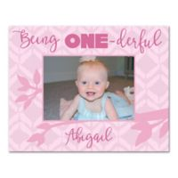 "Pied Piper Creative ""Being One-derful"" Canvas Wall Art in Pink"