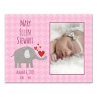 Pied Piper Creative Elephant Canvas Wall Art in Pink