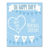 Pied Piper Creative Happy Day Canvas Wall Art in Blue