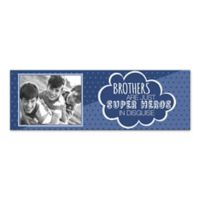 Brothers are Super Heroes in Disguise Canvas Wall Art in Blue