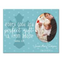 "14-Inch x 11-Inch Children's ""Every Good Gift"" Cross Religious Canvas Wall Art in Blue"