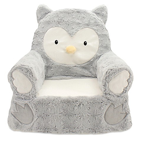Plush Owl Sweet Seat Chair In Grey Buybuy Baby