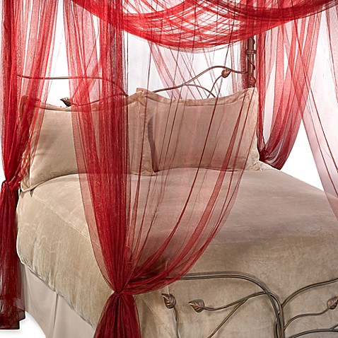 majesty bed canopy in ruby red bed bath beyond
