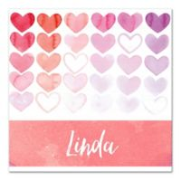 Pied Piper Creative Pink Hearts Canvas Wall Art