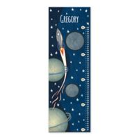 Rocket Growth Chart Canvas Wall Art in Blue
