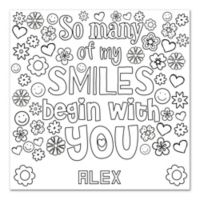 Smile Custom Coloring Canvas Wall Art