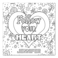 "Pied Piper Creative ""Follow Your Heart"" Canvas Wall Art"