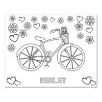 Bicycle Custom Coloring Canvas Wall Art