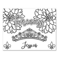 """Princess"" Custom Coloring Canvas Wall Art"
