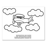 Plane Custom Coloring Canvas Wall Art