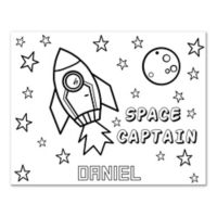 Rocket Space Custom Coloring Canvas Wall Art