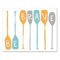 """Designs Direct """"Be Brave"""" Paddles Canvas Wall Art"""