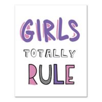 """Designs Direct """"Girls Totally Rule"""" Canvas Wall Art"""