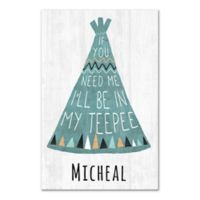 Teepee Canvas Wall Art