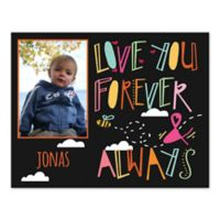 "14-Inch x 11-Inch Children's ""Love You Forever and Always"" Canvas Wall Art in Black"
