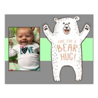 "14-Inch x 11-Inch Children's ""Time for a Bear Hug!"" Canvas Wall Art in Grey/Green"