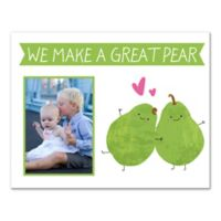 "14-Inch x 11-Inch Children's ""We Make A Great Pair"" Canvas Wall Art in White/Green"