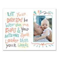 14-Inch x 11-Inch Children's Dreams and Actions Inspirational Canvas Wall Art in White
