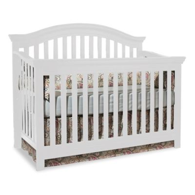 Centennial Rhapsody 4 In 1 Convertible Crib In White   From Munire