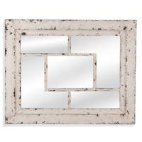 Bassett Mirror Company 32-inch x 40-inch Harper Wall Mirror in White