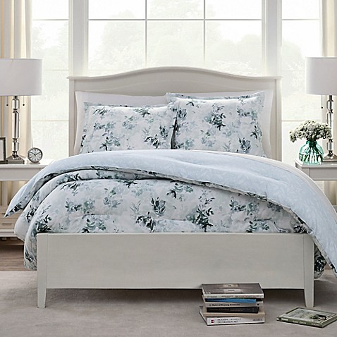Watercolor leaves comforter set bed bath beyond - Bed bath and beyond bedroom furniture ...