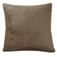 Erlene Home Fashions Victoria Velvet Square Throw Pillow in Bronze
