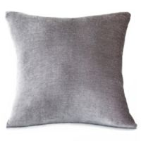 Erlene Home Fashions Victoria Velvet Square Throw Pillow in Silver