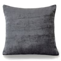 Erlene Home Fashions Victoria Velvet Square Throw Pillow in Smoke