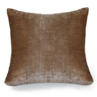 Erlene Home Fashions Victoria Velvet Square Throw Pillow in Taupe