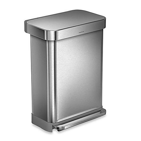Simplehuman 55 Liter Rectangular Step Trash Can With