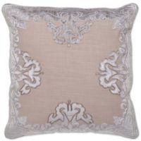 Aura Aviva Velvet 20-Inch Square Throw Pillow in Grey