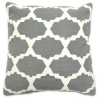 Aura Cotton Woven Foil 20-Inch Square Throw Pillow