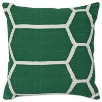 Aura Woven Hexagons 20-Inch Square Throw Pillow in Dark Green