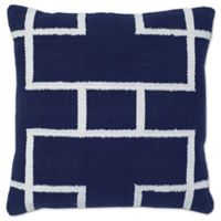 Aura Woven Rectangles 20-Inch Square Throw Pillow in Blue/White