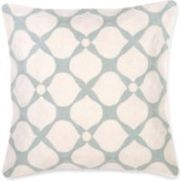 Aura Hand Embroidered 20-Inch Throw Pillow in Sage Green
