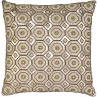 Aura Honeycomb Sequin 20-Inch Throw Pillow in Natural