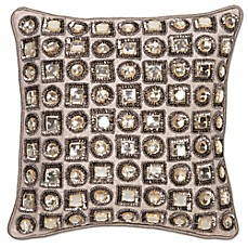 Aura Jewel 12-Inch Square Throw Pillow - Bed Bath & Beyond
