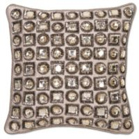 Aura Jewel 12-Inch Square Throw Pillow in Natural