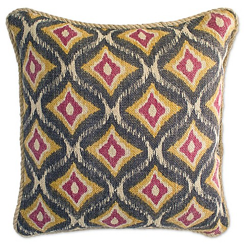 Jute Throw Pillow : Aura Jute 20-Inch Square Throw Pillow - Bed Bath & Beyond